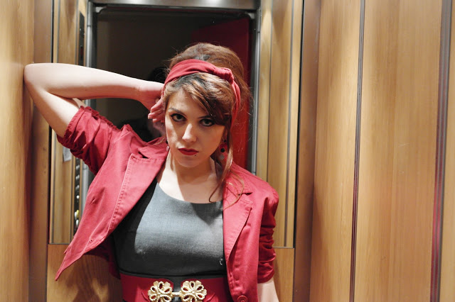 Dans l'ascenseur…