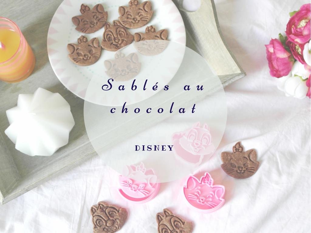 Sablés au chocolat Disney