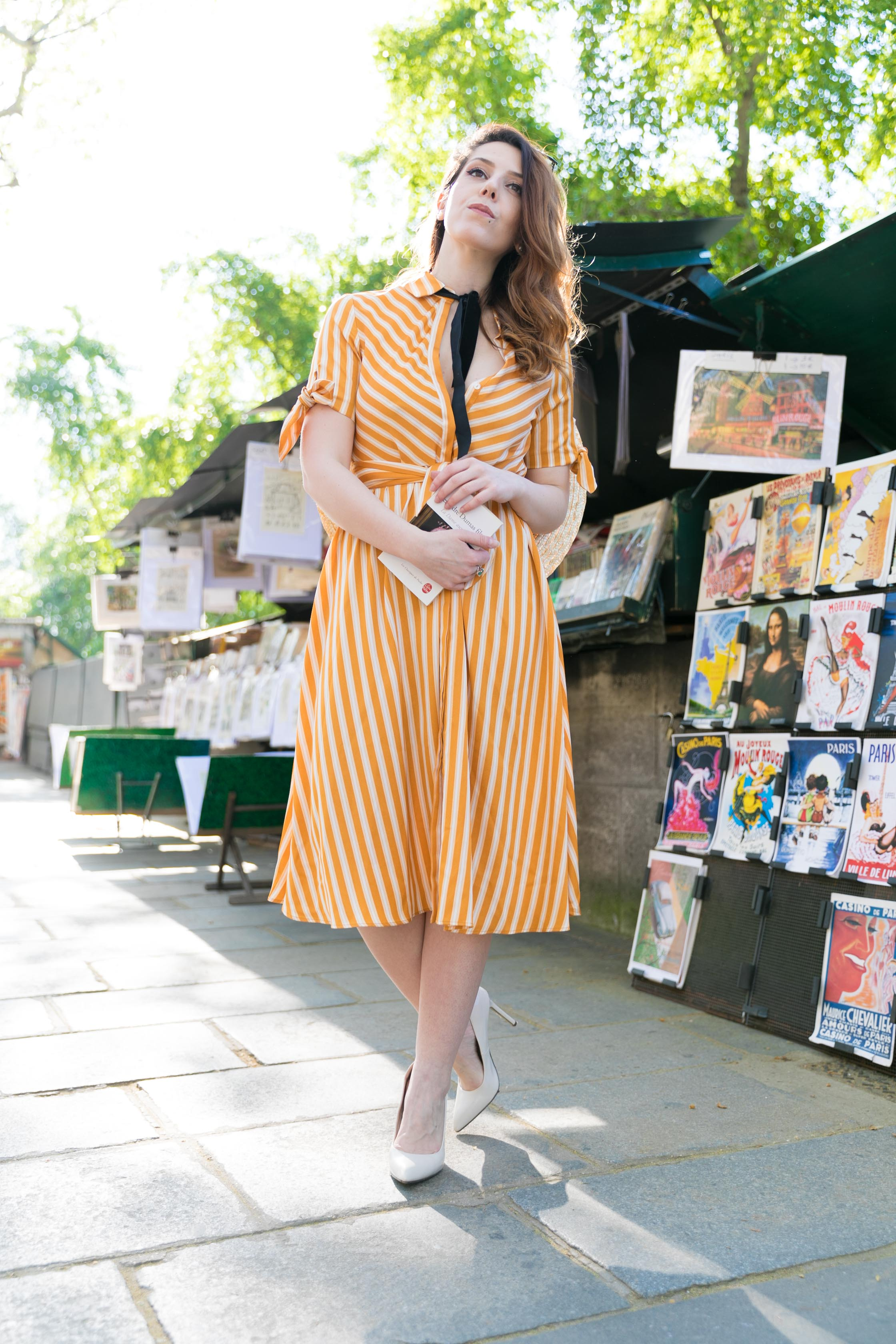 robe-rayure-retro-vintage-paris-bouquiniste-charlie-sugar-town