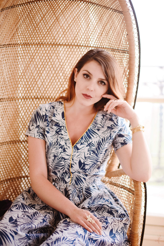 Maison Mixmelo robe imprimé exotique rétro vintage marque ethique et éco-responsable paris charlie sugar town