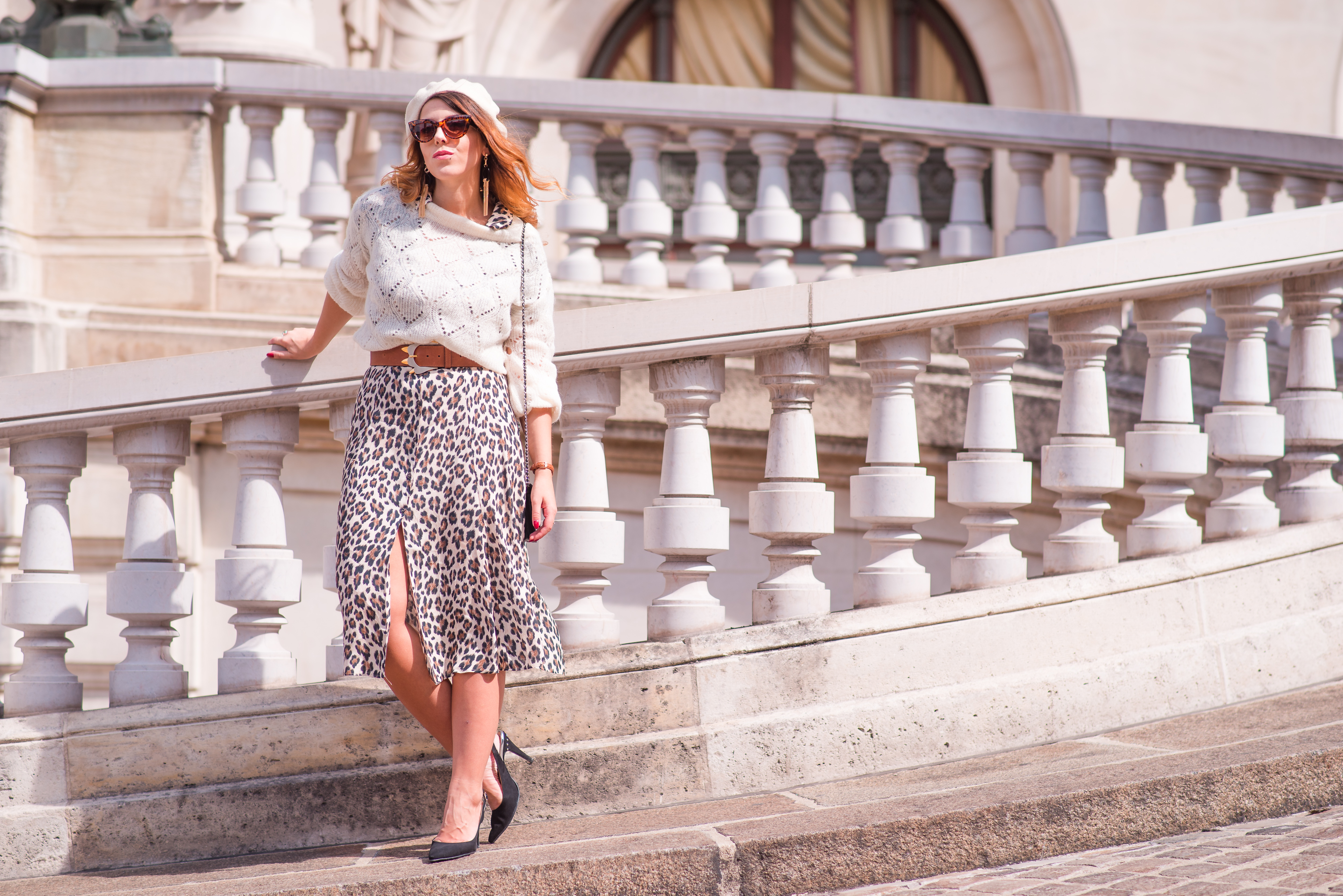 robe imprimé léopard sac chanel blog rétro paris blog vintage paris charlie sugar town Opéra