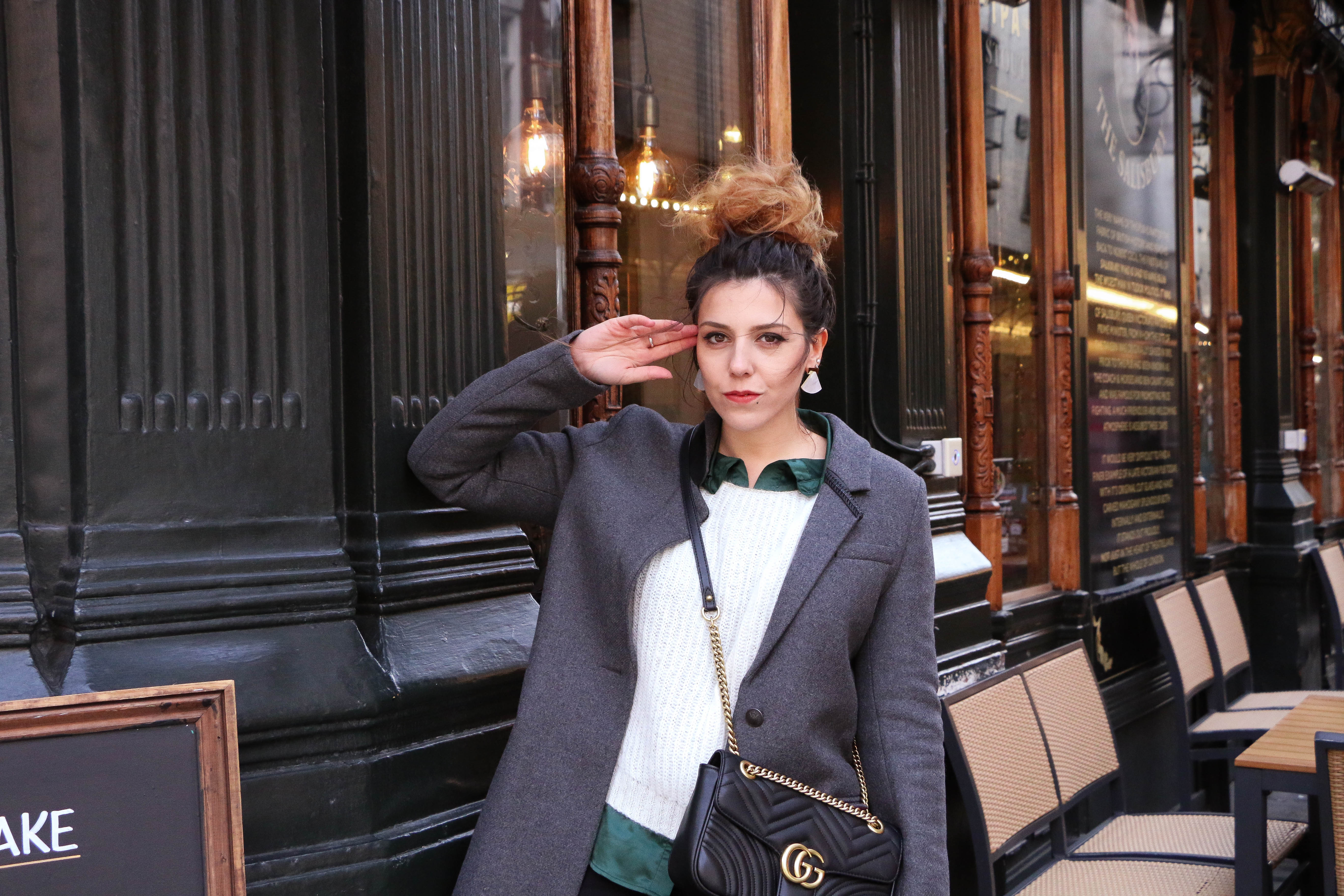 Look rock IKKS Londres blogger voyage, voyage Angleterre, Piccadilly Circus Covent Garden sac gucci Charlie Sugar Town