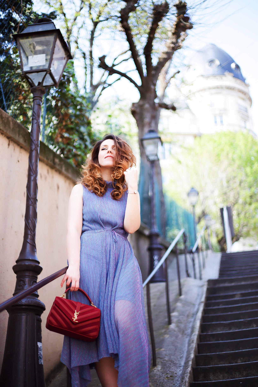 Robe légère et fluide Derhy montre Les Georgettes. Tenue style année 20 Charlie Sugar Town Paris quartier Bir Hakeim. Photos : @taro.lawliet