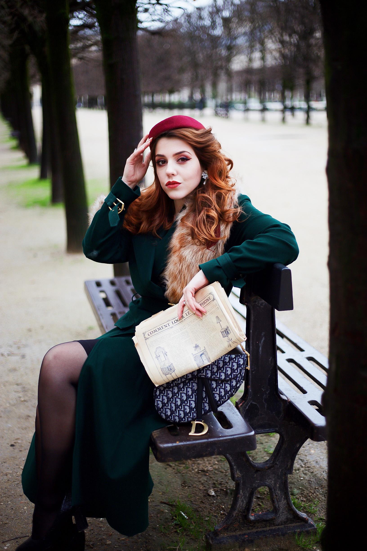 manteau rétro vintage Yvette Libby N'Guyen sac saddle Dior blog