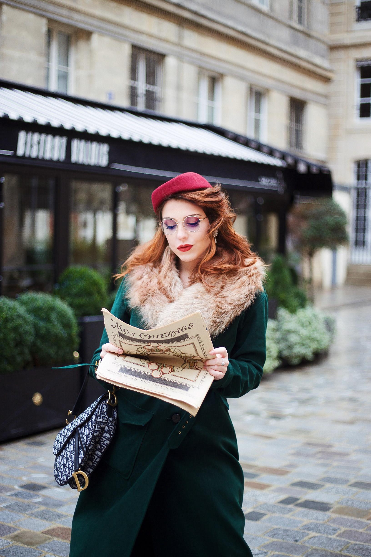 manteau rétro vintage Yvette Libby N'Guyen lunettes Mize Paris