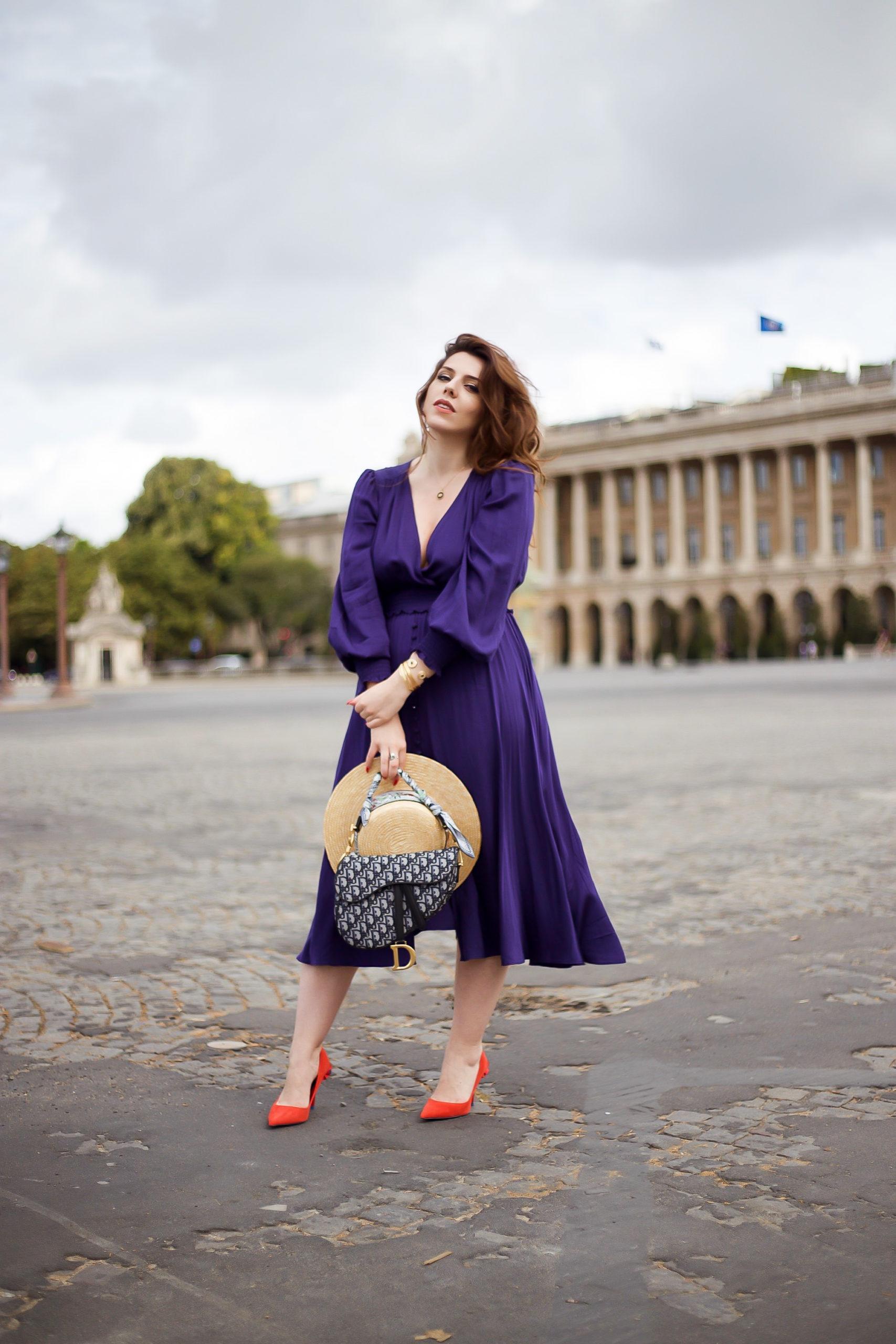 Tenue parisienne Paris sac dior saddle élégante