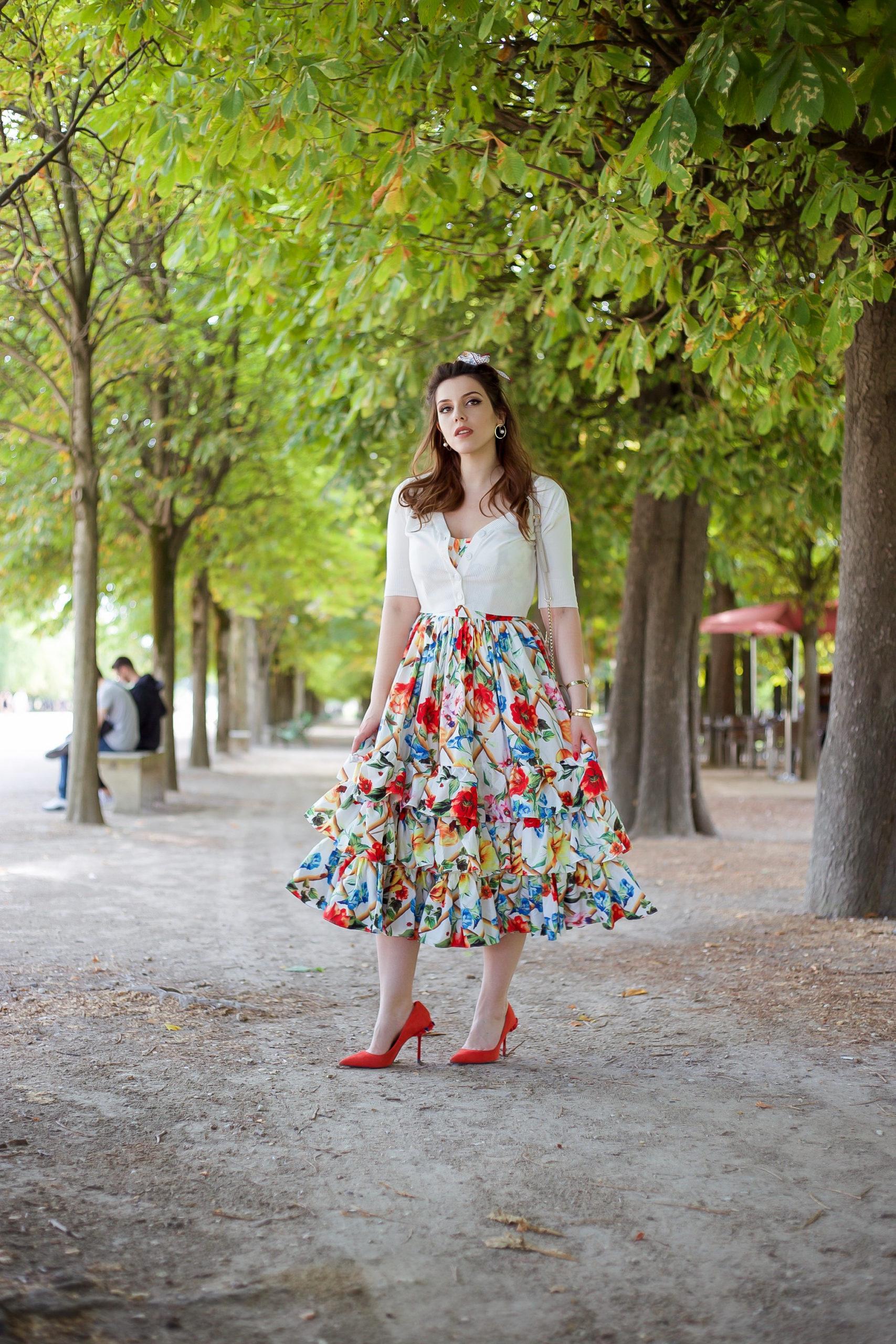 robe fleurie à volants Charlie Sugar Town Paris Blog mode vintage rétro