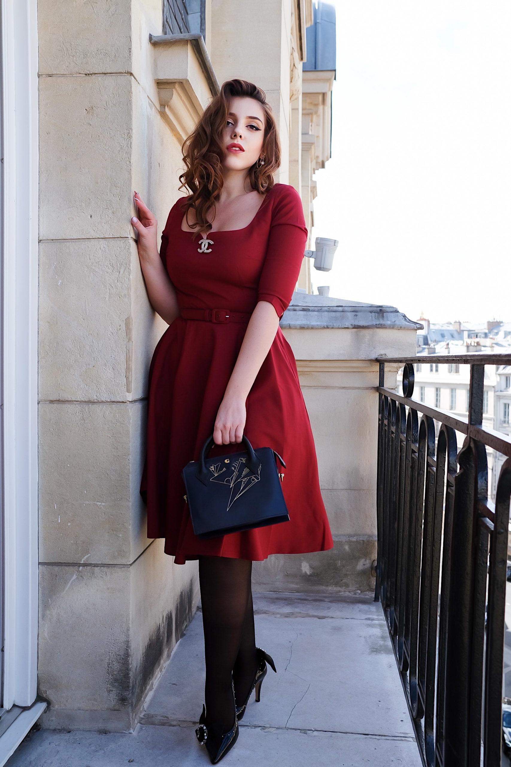 vintage robe vintage rouge blog paris charliesugartown