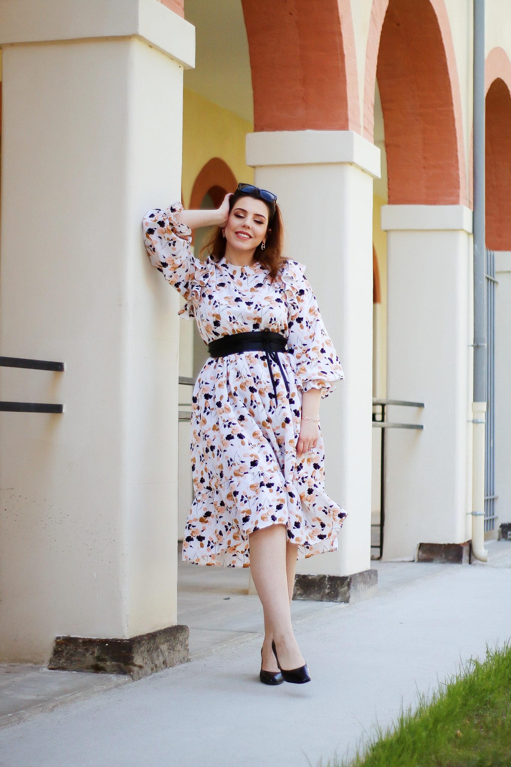 3 tenues de printemps estivale robe de printemps robe rétro vintage robe imprimé fleuri coosy