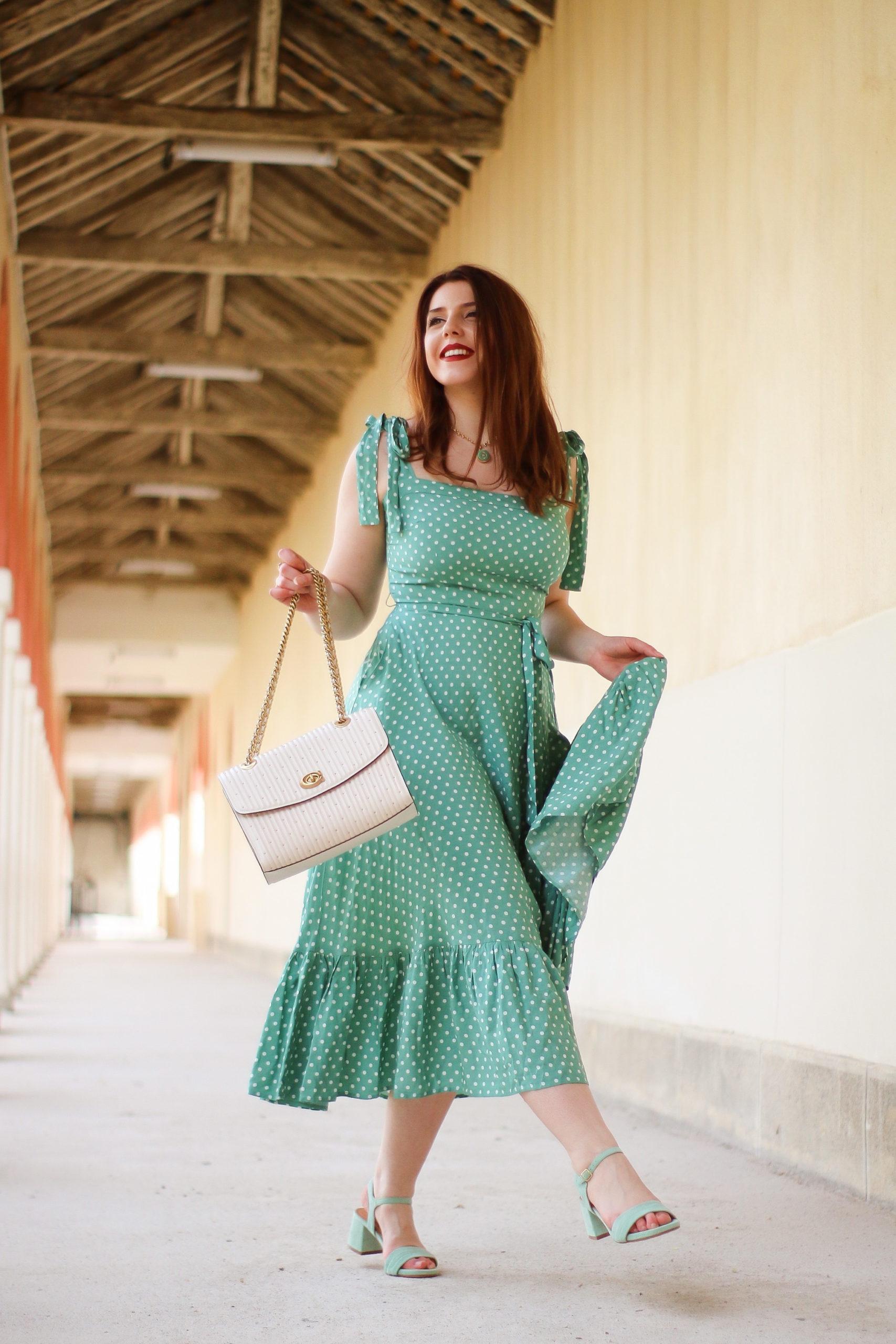 3 tenues de printemps estivale robe de printemps robe rétro vintage robe Top vintage robe à pois
