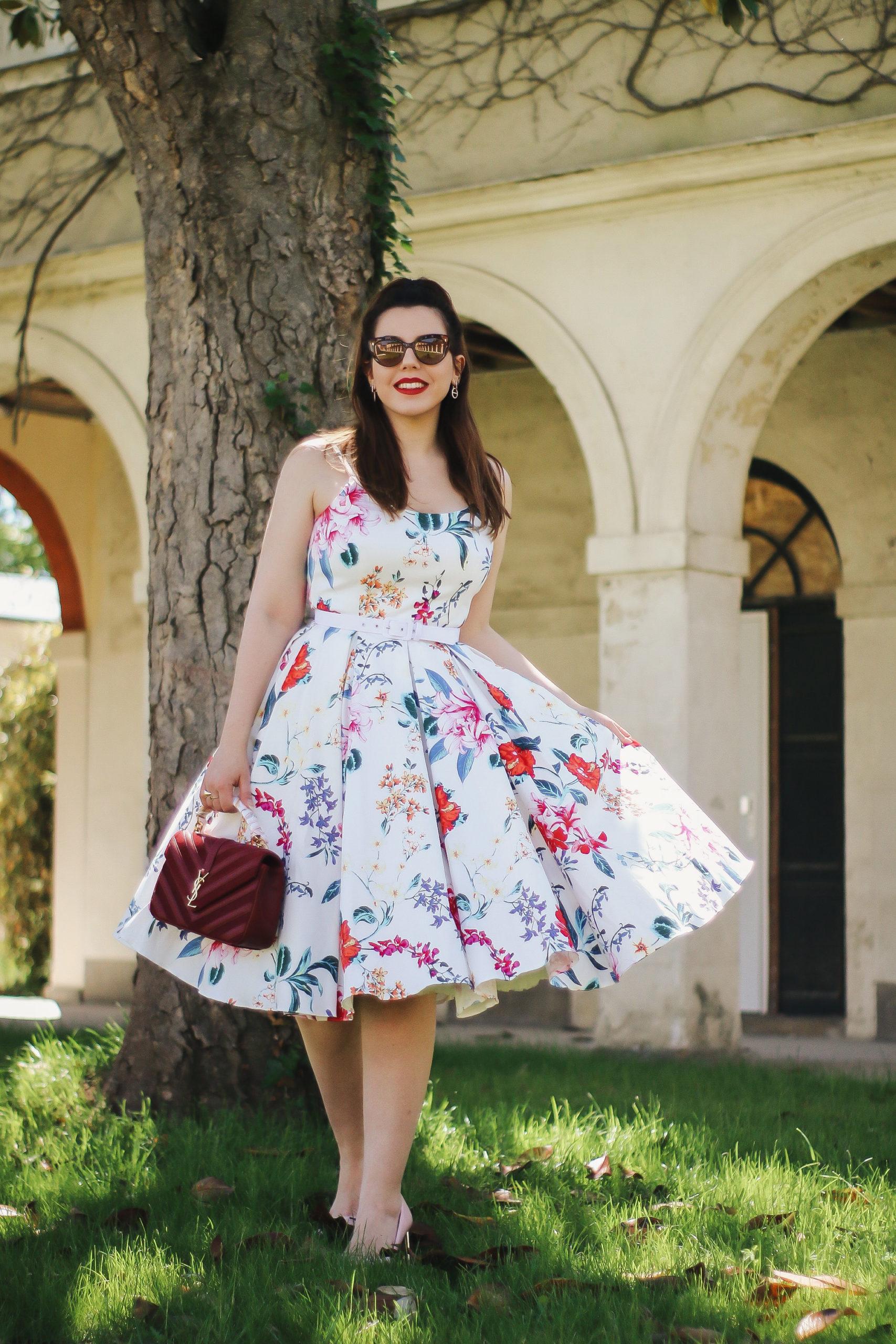 tenue été rétro vintage pin up liberty fleurie the pretty dress
